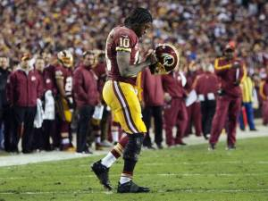 An injury to Robert Griffin III scuppered the Redskins' chances of advancing