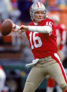 49ers legend Joe Montana - winner in all four of the Super Bowls he contested
