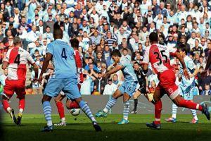 Aguero wins the title for City against QPR