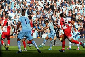 Aguero wins the title for City against QPR