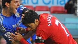 Suarez hunts for some fava beans and a nice chianti