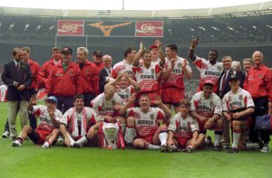 Wigan used to be regulars at the old Wembley...in the Rugby League Challenge Cup