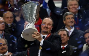 Fan favourite Rafa Benitez helps Chelsea lift the Europa League trophy