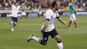 Landon Donovan scores on his return to the USA lineup