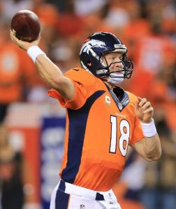 Manning tied the NFL record with 7 TD passes in a single game