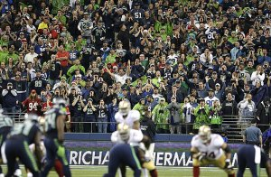 It's certainly hard to hear over people talking about how loud the Seahawks fans are