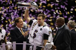 Joe Flacco led the Baltimore Ravens to victory in Super Bowl XLVI