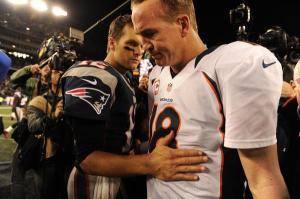Brady consoles Manning after beating him for the 10th time in 14 meetings