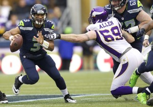 In his second season, Russell Wilson has the Seahawks in poll position in the NFC
