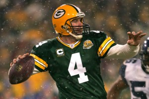 Brett Favre looks better in jeans commercials than Seneca Wallace did in the NFL