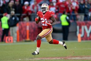 Frank Gore en route to 110 yards rushing in the 49ers 19-17 win over Seattle