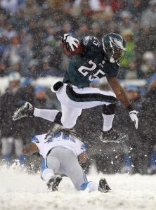 LeSean McCoy was kept his cool running in the snow