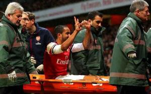The Emirates saved money on a scoreboard by employing Theo Walcott