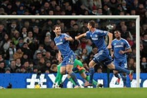 Ivanovic scores the only goal of the game against City