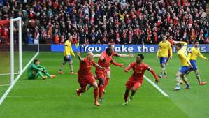 It only got better for Liverpool and worse for Arsenal after this first minute goal by Skrtel