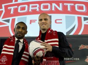 Toronto FC's new stars, Jermain Defoe (left) and Michael Bradley