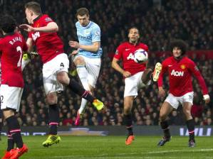United's defence gets nowhere near Dzeko as he scores his second on Tuesday night