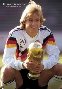 Klinsmann won the World Cup as a player with West Germany in 1990