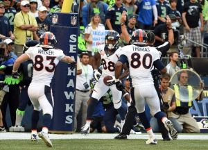 The Broncos/Seahawks Super Bowl rematch last sunday had a dramatic finish…but the action again takes a back seat