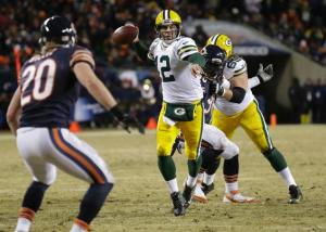 Rodgers came back in Week 17 to stun Soldier Field with a last minute game winning touchdown