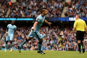 Aguero racked up four more goals against Spurs