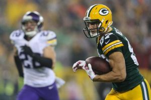 Rodgers found Jordy Nelson for a 66 yard touchdown pass against the Vikings