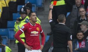 Chris Smalling sees red and costs his team dearly in the Manchester derby