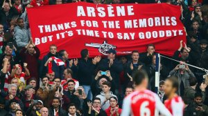 """Is the banner ready Dave?"" ""Hold on, just got to put the accent on Arsène, don't want to insult the fella."""