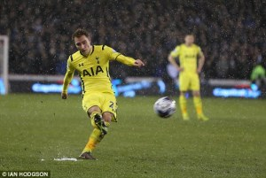 Eriksen's stupendous free-kick put Spurs in control of the tie