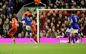 Schlupp earns a point for Leicester at Anfield