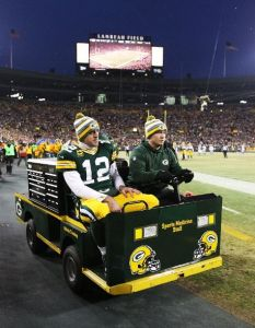 The last thing Packers wanted to see last Sunday, but Rodgers now has a week of rest