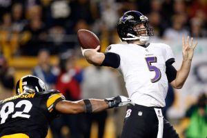 Flacco led the Ravens to an upset victory in Pittsburgh over the Steelers